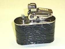 KW (KARL WIEDEN) SEMI-AUTOMATIC TABLE LIGHTER - BLACK LEATHER COAT -1930 -GERMAN