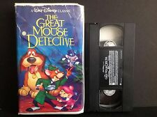 The Adventures of the Great Mouse Detective (VHS, 1992)