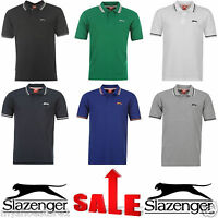 BRANDED MEN BOYS GENTS SLAZENGER PLAIN SHORT SLEEVE CASUAL POLO GOLF T SHIRT TOP