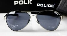 2016 Hot New style Men's POLICE sunglasses Driving glasses Blue lens silvery fra
