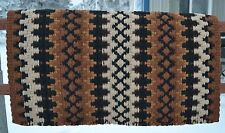 Mayatex Wool Show Saddle Blanket Pad 34x40 Black Brown Chestnut Rust Tan THICK