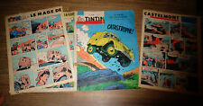 Couverture + 2 pages : Tintin 1962 : Citröen Camionnette 2cv