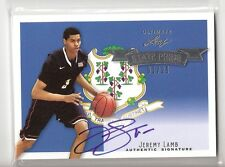 JEREMY LAMB 12/13 leaf ultimate on card auto state pride rookie serial #01/25