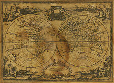 world map atlas globe earth compass A1 SIZE PRINT -poster  FOR YOUR FRAME