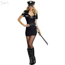 Ladies Police Woman Cop Uniform Fancy Dress Halloween Costume Cosplay Outfits