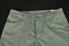 Brunello Cucinelli 100% Wool Flannel Gray 5 Pocket Slim Fit Pants Size 46 Italy