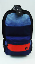 RVCA Skate Surf BACKPACK Blue BAG School Frontside 18x17x5 Laptop Tablet New