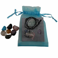 Gemstone COLLANA KIT CON PIETRE assortiti per la guarigione amore fortuna regalo di Natale