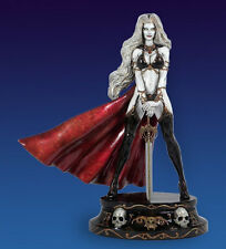 CS MOORE BRIAN PULIO´S ROYAL LADY DEATH WHITE FAUX BRONZE EDITION RESIN STATUE