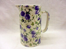 Blue ivy rose 2 pint pitcher jug by Heron Cross Pottery