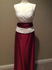 NWOT WTOO Watters & Watters 2 pc Red & White Formal Holiday Dress Size 4