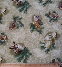 Owls of Wonder Fabric by Yard Quilt Sew 100% Cotton Wildlife Bird