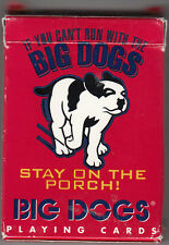 "BIG DOGS PLAYING CARDS ""If you can't run with BIG DOGS Stay on the Porch"""