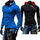 Men Casual Fleece Cardigan Hoodie Jacket Zipper Hoody Hoodies Slim Sweatshirt XT