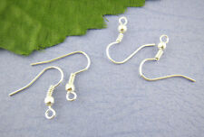 50 x Silver Plated Ear Wire Hooks (Lead & Nickel free) Findings -18mm - L00553