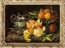 FRUIT STILL LIFE Dollhouse Picture - FRAMED Miniature Art - MADE IN AMERICA