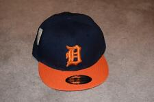 DETROIT TIGERS MLB Cap Hat NAVY & ORANGE SNAPBACK English D by NEW CENTURY NWT