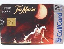 "SCHEDA IRLANDA-""AFTER DARK-TIA MARIA""-Call Card-20 units-TELECOM EIREANN"