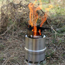 Portable Stainless Steel Wood Stove Alcohol Stove Outdoor Picnic Cooking Camping