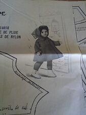 T1 PATRON POUPEE .FRANCOISE & M.FRANCOISE MODES & TRAVAUX  IMPERMEABLE 1960