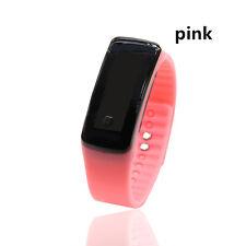 Popular Pink Men/Women Sport LED Waterproof Rubber Bracelet Digital Wrist Watch