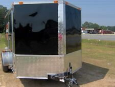 enclosed cargo motorcycle 2 bike trailer 7x10 finished interior toy hauler NEW