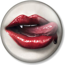"Vampire Lips True Blood 25mm 1"" Pin Button Badge Halloween Twilight True Blood"