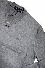 Authentic New Men's BOSS Hugo Boss V-Neck Wool Sweater Gray M size