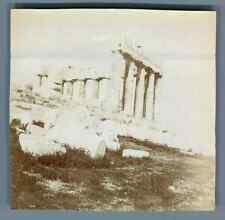 Greece, Athens, The Acropolis  Vintage citrate print.  Tirage citrate  8x8,5