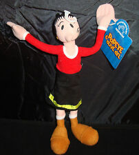 POPEYE-OLIVE OYL-9 INCH-POSEABLE-APPLAUSE-RED TOP-BLACK DRESS-BOOTS-NEW WITH TAG