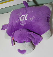 1D ONE DIRECTION PURPLE DOG PILLOW PET! BOY BAND PLUSH TOY APPROX 30CM WIDE!