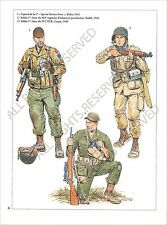 PLANCHE UNIFORMS PRINT WWII US ARMY Corporal Special Service Force Kiska Luçon