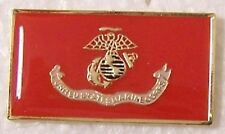 Hat Lapel Push Tie Tac Pin USMC Marine Corps Flag NEW