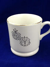 Pharmacy or medical symbol coffee cup owens illinois Caduceus icon porcelain mug