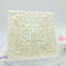 10x Exquisite Wedding Party Invitation Card Delicate Carved Pattern dm 3Q8V