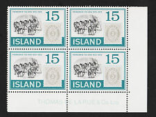 1973 Iceland Bottom Corner Margin Block of 4 Sc#450 MNH VF