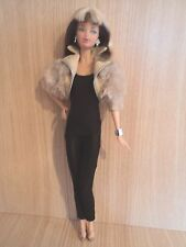 Barbie Model/Muse Doll With Steffie Sculpt in a Brown Body suit and Short Jacket