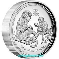 2016 Australia Lunar Year Of Monkey High Relief Proof  Silver Coin Perth COA Box