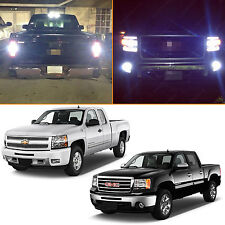 8x White LED Exterior Light Package Kit for 2007-2013 Silverado Sierra