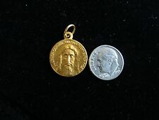 Holy Face of God From Veronica's Veil Different From Other Gold Tone Medal 1""