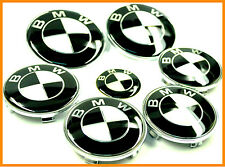 7pcs 7x BMW Black White Badge Emblem Set Wheel Centre Caps e60 e61 e46 e90 e91