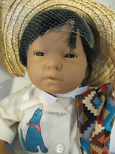 Vintage FURGA MEXICAN Anatomically Correct Baby BOY DOLL MIB