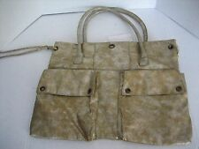 Old Navy Women's Gold & Silver Faux Leather Shoulder Bag/Purse/HandBag NWWT