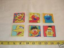6 pc set Sesame Street Fabric Applique Iron On Ons