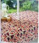 Red & Purple flowers Umbrella Tablecloth w/ zipper for pole 52 x 70 inch patio