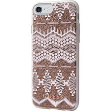 GUESS COQUE ARRIÈRE RIGIDE 3D TRIBAL AZTEC ROSE TPU GUHCP7TGTA iPhone 7