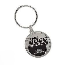 1969 1970 2012 2013 FORD MUSTANG BOSS 302 THE BOSS IS BACK KEYCHAIN KEYRING NEW
