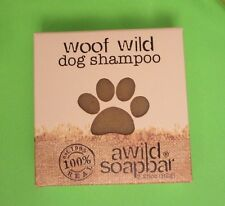 A Wild Soap Bar WOOF WILD dog shampoo 3.25oz woodsy flea tick repeller repellent