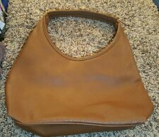 Mondani New York Beige Faux Leather Shoulder Bag Hobo Handbag Purse