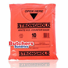 1000 x Butchers-Sundries Poly Polythene Plastic Food Use Counter Bags 8'' x 10''
